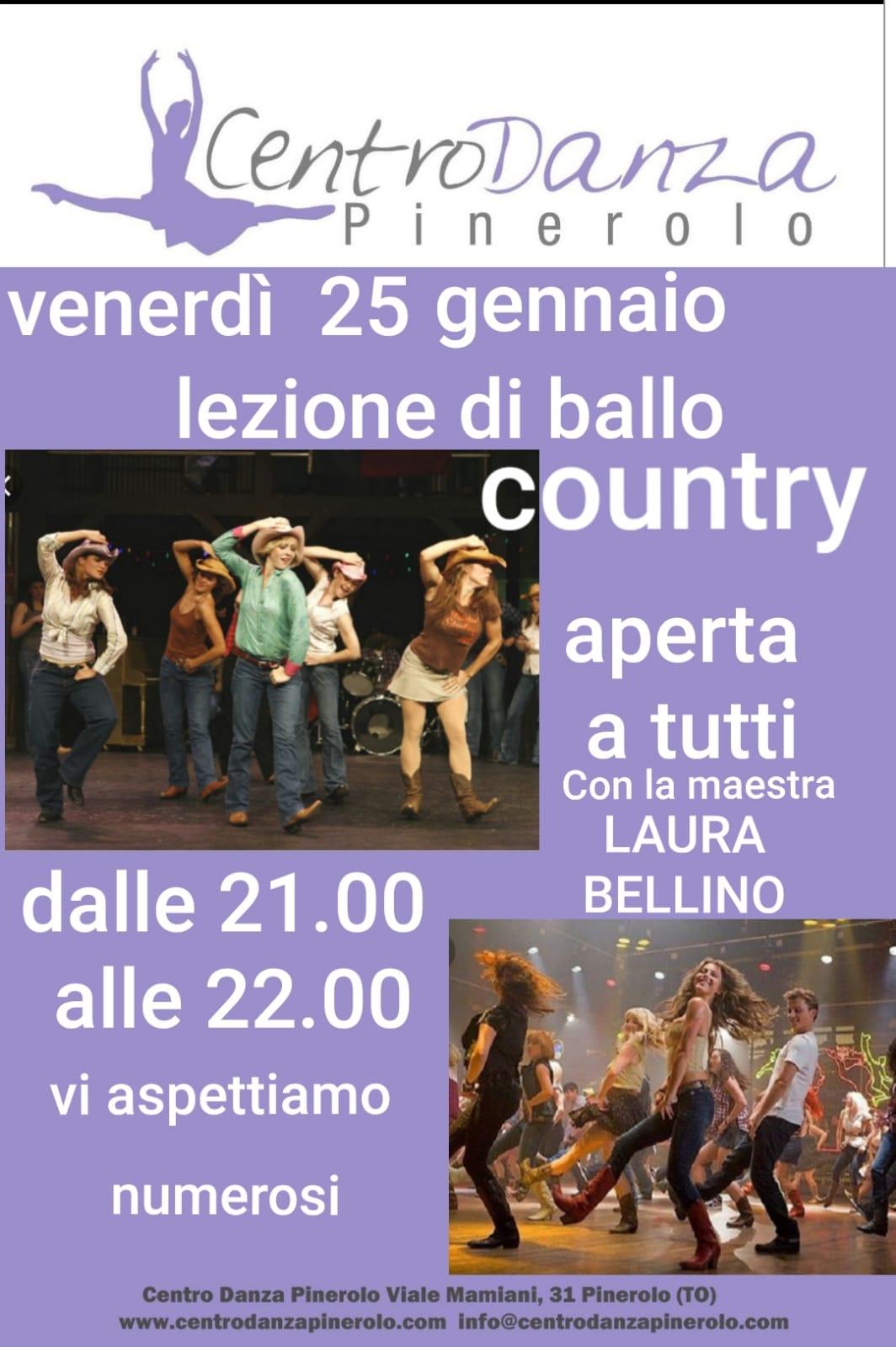 Venerdì 25 gennaio – Lezione di ballo Country